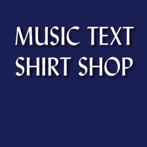 Music Text Shirt